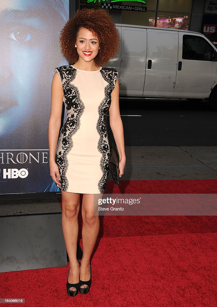 Nathalie Emmanuel arrives at the HBO's 'Game Of Thrones' Season 3 - Los Angeles Premiere at the TCL Chinese Theatre on March 18, 2013 in Hollywood, California.