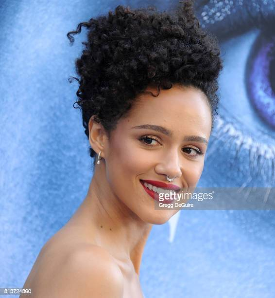 Nathalie Emmanuel arrives at the premiere of HBO's 'Game Of Thrones' Season 7 at Walt Disney Concert Hall on July 12 2017 in Los Angeles California