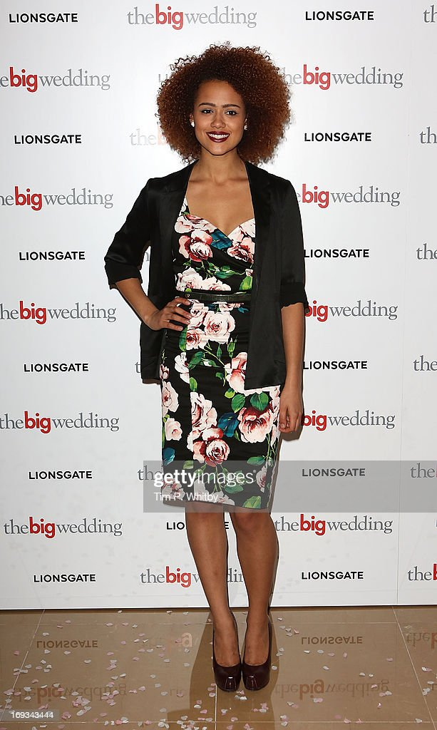 Nathalie Emmanuel attends Special screening of 'The Big Wedding' at May Fair Hotel on May 23, 2013 in London, England.