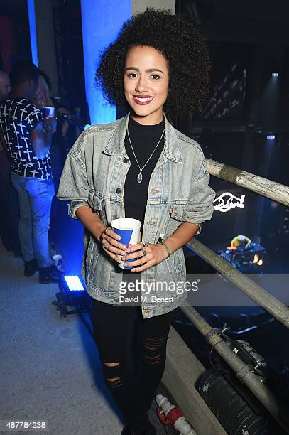 Nathalie Emmanuel attends the Red Bull Studios Future Underground third night at Collins Music Hall on September 10 2015 in London England