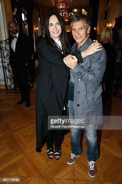 Nathalie Garcon and Nagui attend the Nathalie Garcon's Book Signing Cocktail Party At Hotel Regina on October 13 2014 in Paris France