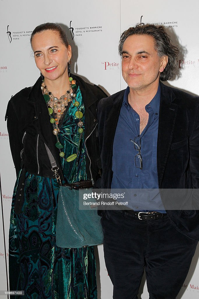 Nathalie Garcon (L) and Patrick Massiah attend 'La Petite Maison De Nicole' Inauguration Photocall at Hotel Fouquet's Barriere on January 22, 2013 in Paris, France.