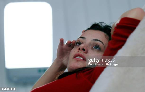 Nathalie Hutton looks at a ' light lounge' Monday January 9 a free treatment aimed at Seasonal Affective Disorder sufferers a form of depression...