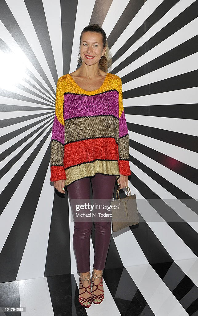 Nathalie Joos attends the celebration of the collaboration between Jimmy Choo and Artist Rob Pruitt at The Fletcher Sinclair Mansion on October 25, 2012 in New York City.