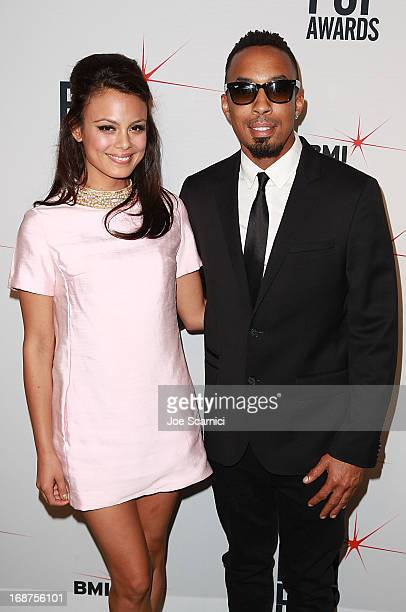 Nathalie Kelley and Dallas arrive at the 61st Annual BMI Pop Awards at Regent Beverly Wilshire Hotel on May 14 2013 in Beverly Hills California