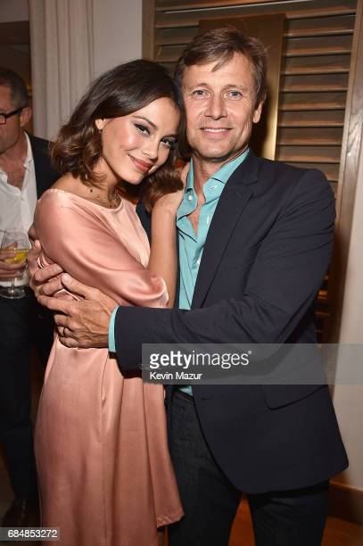 Nathalie Kelley and Grant Show attend The CW Network's 2017 party at Avra Madison Estiatorio on May 18 2017 in New York City