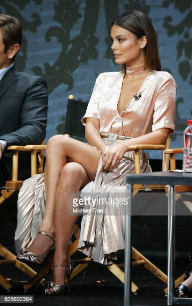 Nathalie Kelley of 'Dynasty' speaks onstage during the 2017 Summer TCA Tour CW Panels held at The Beverly Hilton Hotel on August 2 2017 in Beverly...