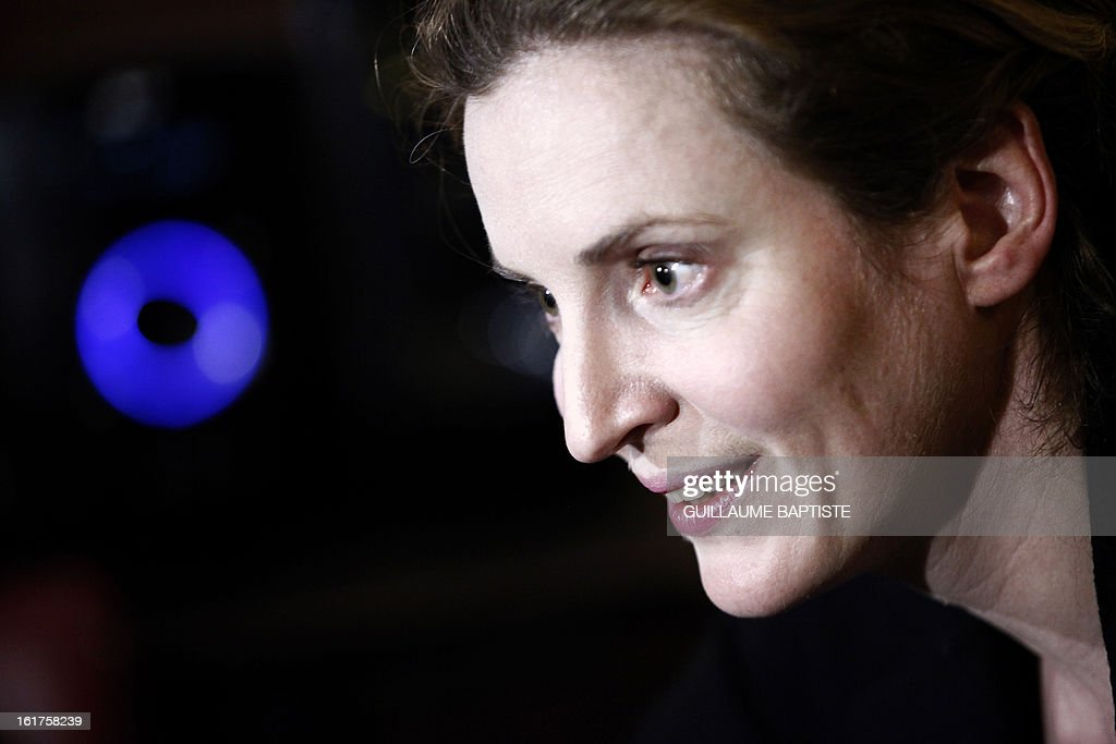 Nathalie Kosciusko-Morizet, a member of the French opposition right-wing UMP party, gives a press conference on February 15, 2013 at a cafe in Paris following the announcement of her candidacy for the UMP internal vote to pick the party candidate for the 2014 Paris municipal elections. BAPTISTE
