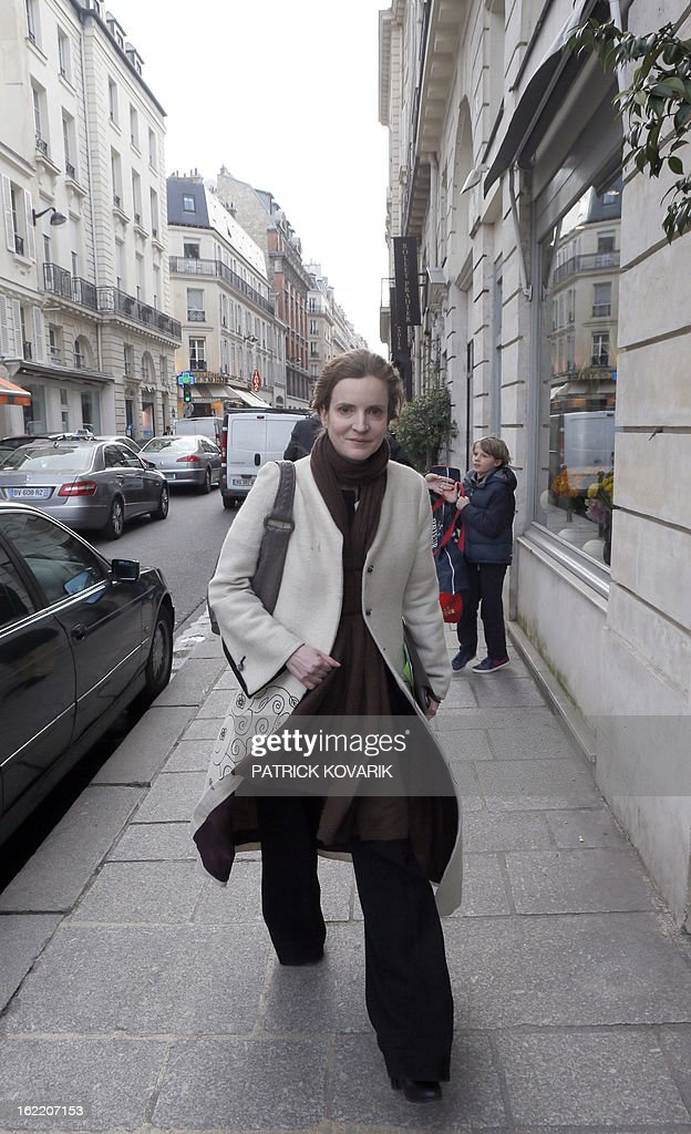 Nathalie Kosciusko-Morizet, a member of the French opposition right-wing UMP party walks in a street in Paris, on February 20, 2013.