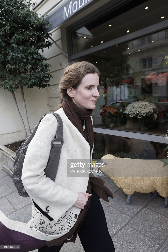 Nathalie Kosciusko-Morizet, a member of the French opposition right-wing UMP party walks in a street in Paris, on February 20, 2013. AFP PHOTO PATRICK KOVARIK