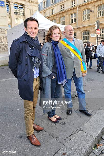 Nathalie KosciuskoMorizet and PierreYves Bournazel attend the Fete Des Vendanges 2014 at Vigne du Clos Montmartre on October 11 2014 in Paris France