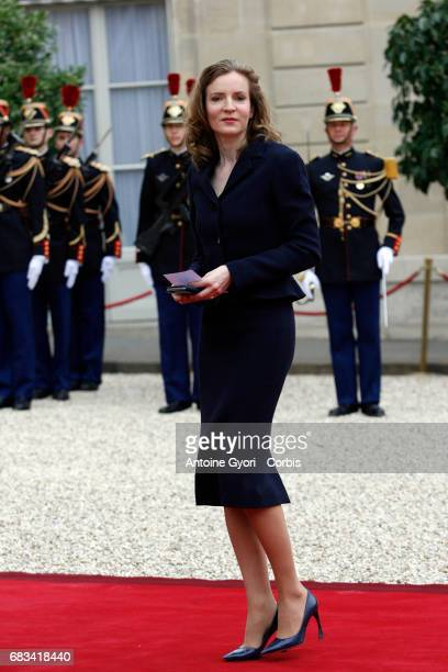 Nathalie KosciuskoMorizet arrives at the Elysee Palace prior to the handover ceremony for New French President Emmanuel Macron at Elysee Palace on...