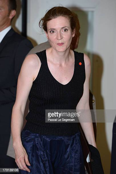 Nathalie KosciuskoMorizet arrives at the UMP headquarters to attend an extraordinary meeting of UMP rightwing opposition party July 8 2013 in Paris...