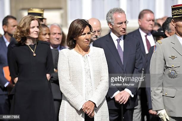 Nathalie KosciuskoMorizet Paris Mayor Anne Hidalgo attend the 70th Anniversary of the Paris Police Celebration for the FFI Uprising at the Prefecture...