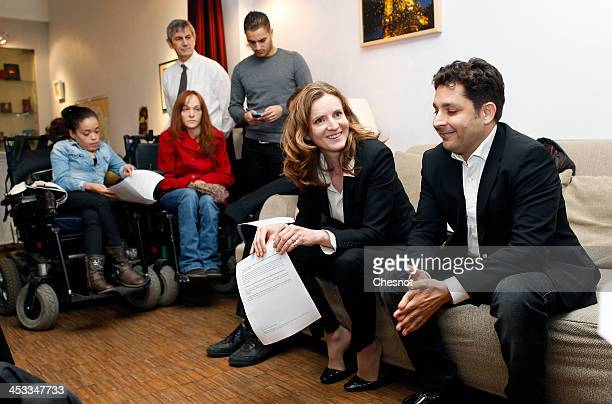 Nathalie KosciuskoMorizet Rightwing UMP Party candidate for the March 2014 Paris mayoral elections attends a press conference on December 3 2013 in...