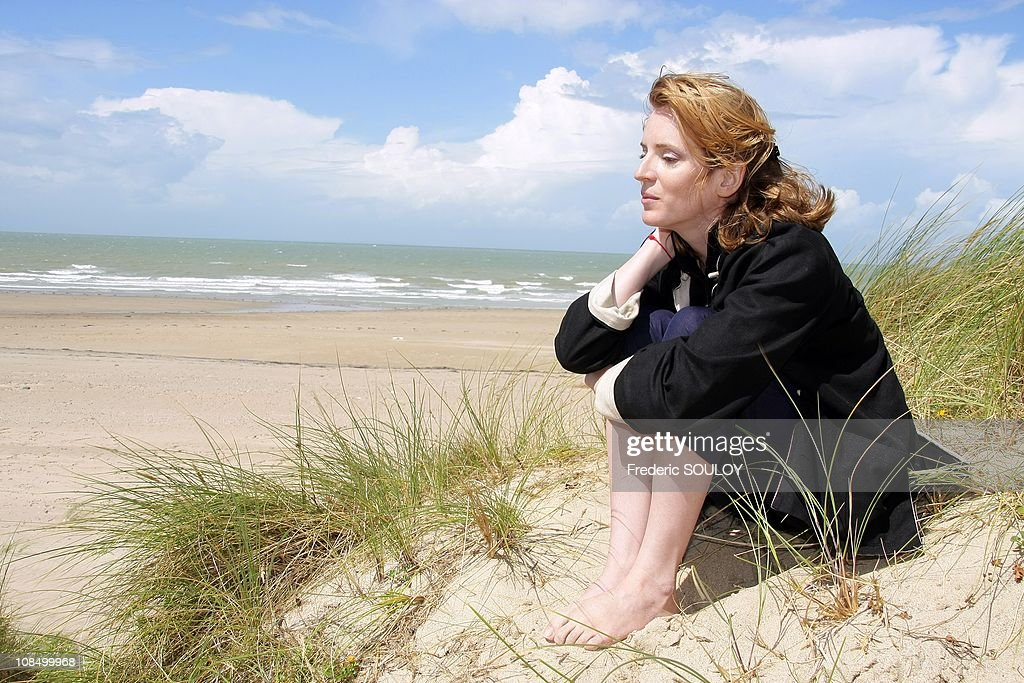 Nathalie Kosciusko-Morizet, secretary of State in charge of Ecology is on holidays in Normandy in Agon Coutainville, France on August 13, 2008.