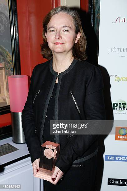 Nathalie Loiseau is pictured after being awarded during the 'Prix De La Femme D'Influence 2014' Ceremony At Hotel Du Louvre on December 8 2014 in...
