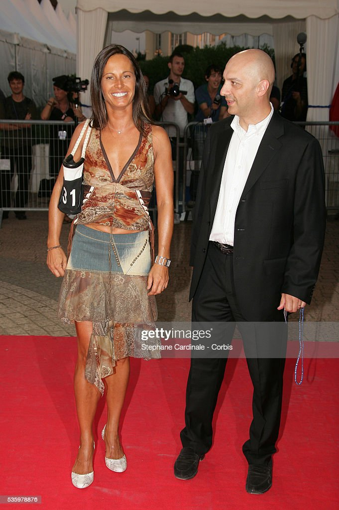 Nathalie Marquay, Xavier de Fontenay arrive at the premiere of 'The Ice Harvest' during the 31st American Deauville Film Festival.