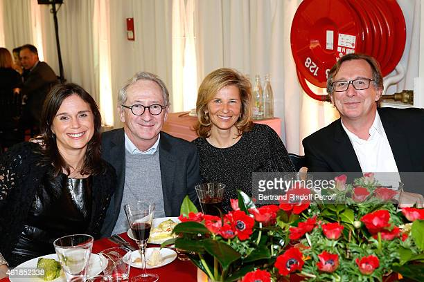 CEO Nathalie Pavlovsky Franck Riboux Warner France Iris Knobloch and President of Fashion Activities at Chanel Bruno Pavlovsky attend the 'Societe...