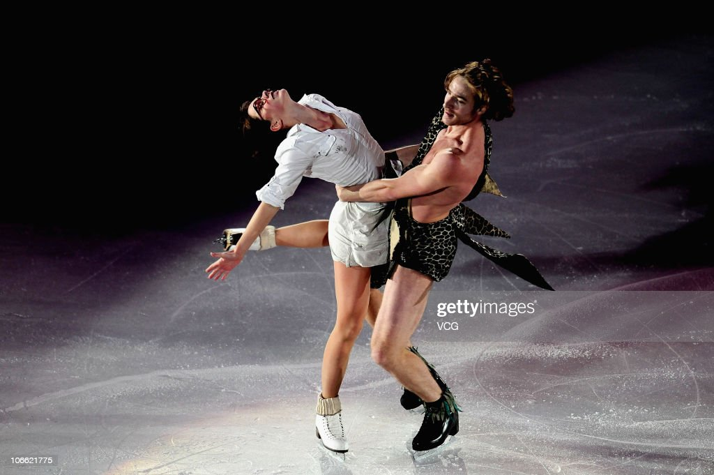 Nathalie Pechalat and Fabian Bourzat of France compete during day three of the Cup of China ISU Grand Prix of Figure Skating 2010 at the Capital...