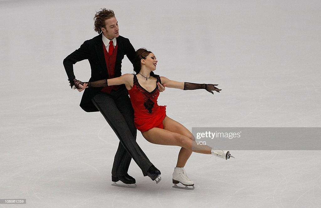 Nathalie Pechalat and Fabian Bourzat of France compete during day one of the Cup of China ISU Grand Prix of Figure Skating 2010 at the Capital Indoor...