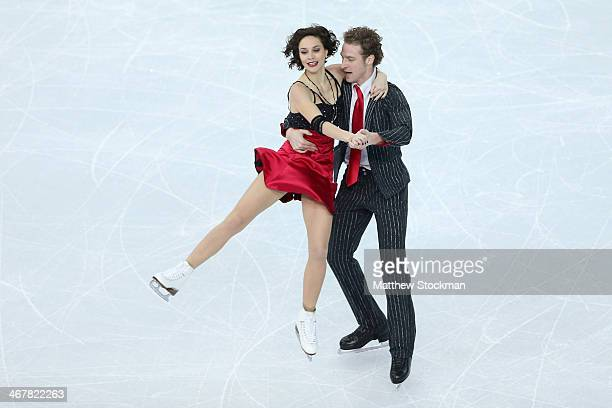 Nathalie Pechalat and Fabian Bourzat of France compete in the Figure Skating Team Ice Dance Short Dance during day one of the Sochi 2014 Winter...