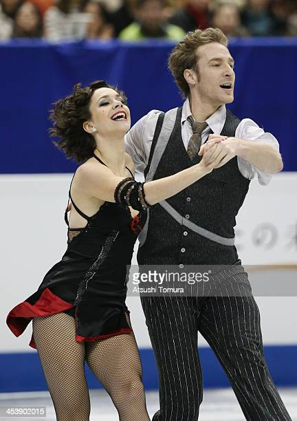Nathalie Pechalat and Fabian Bourzat of France compete in the ice dance short dance during day two of the ISU Grand Prix of Figure Skating Final...