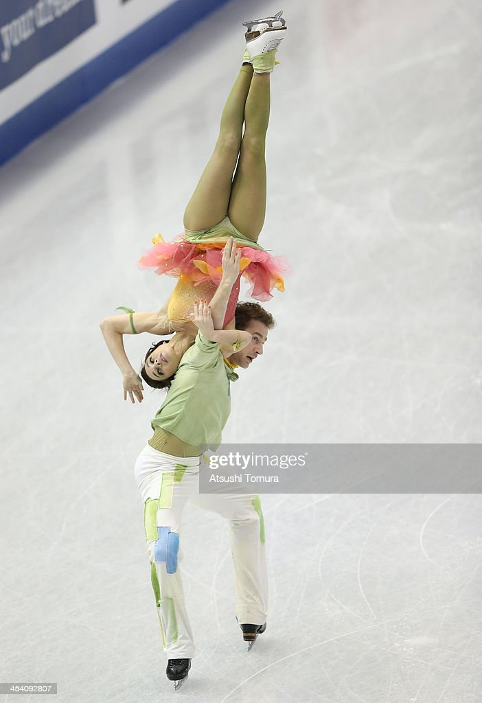 Nathalie Pechalat and Fabian Bourzat of France compete in the ice dance free dance during day three of the ISU Grand Prix of Figure Skating Final...