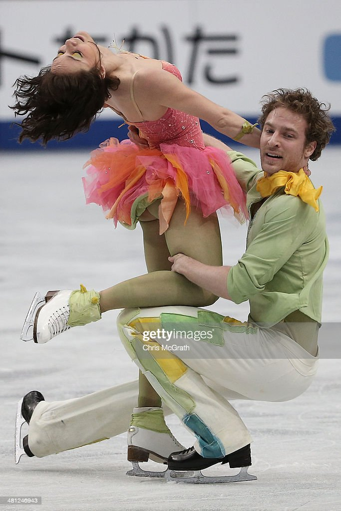 Nathalie Pechalat and Fabian Bourzat of France compete in the Ice Dance Free Dance during ISU World Figure Skating Championships at Saitama Super...