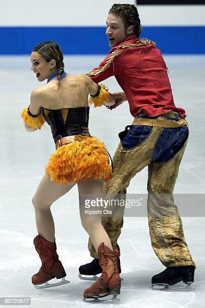 Nathalie Pechalat and Fabian Bourzat of France compete in the Ice Dance Original Dance during the day one of the ISU Grand Prix of Figure Skating...