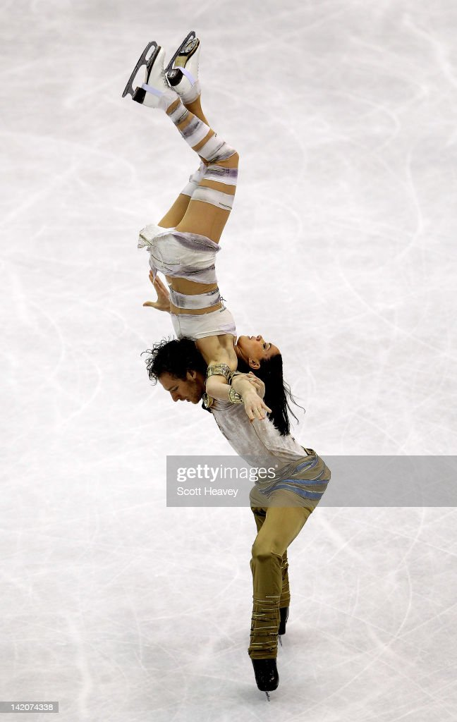Nathalie Pechalat and Fabian Bourzat of France perform during day four of the ISU World Figure Skating Championships on March 29 2012 in Nice France