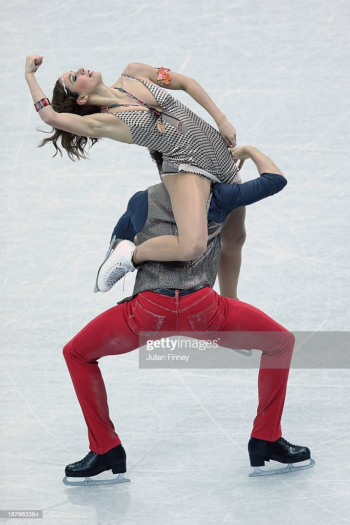 Nathalie Pechalat and Fabian Bourzat of France perform in the Ice Dance Free Dance during the Grand Prix of Figure Skating Final 2012 at the Iceberg Skating Palace on December 8, 2012 in Sochi, Russia.