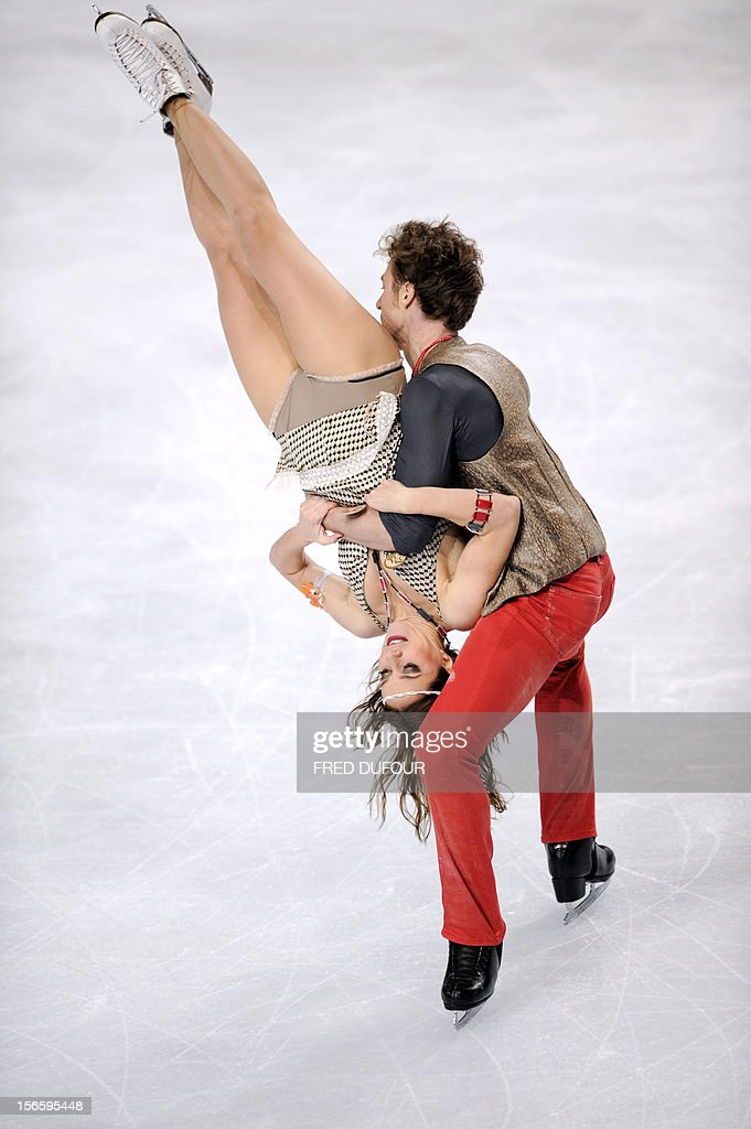 Nathalie Pechalat and Fabian Bourzat of France perform their free program during the Trophee Eric Bompard, the fifth in the six-round ISU Grand Prix figure skating series, on November 17, 2012 at Paris-Bercy.
