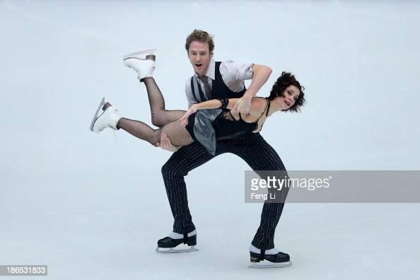 Nathalie Pechalat and Fabian Bourzat of France skate in the Ice Dancing Short Dance during Lexus Cup of China ISU Grand Prix of Figure Skating 2013...