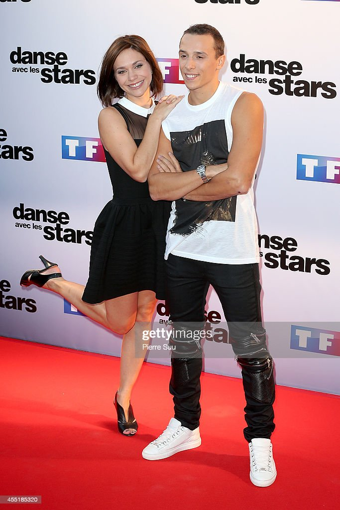 Nathalie Pechalat and Gregoire Lyonnet attend the photocall of 'Danse Avec Les Stars' At TF1 on September 10 2014 in Paris France
