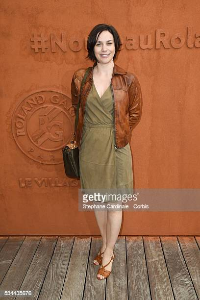 Nathalie Pechalat attends day five of the 2016 French Open at Roland Garros on May 26 2016 in Paris France