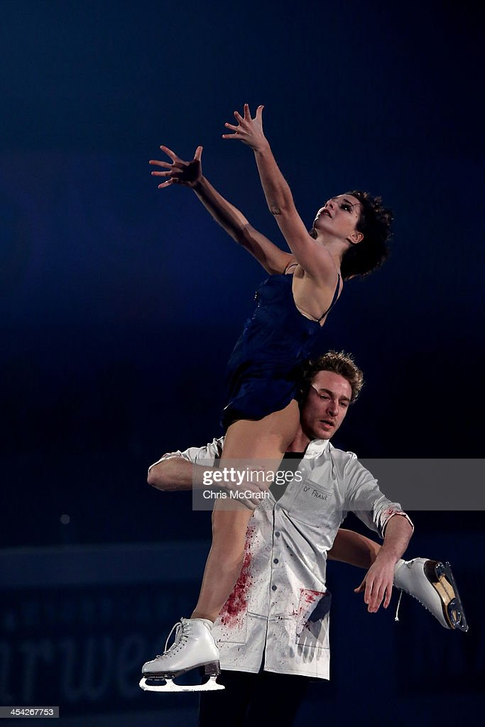 Nathalie Pechalat; Fabian Bourzat of France perform their routine in the ISU Gala during day four of the ISU Grand Prix of Figure Skating Final 2013/2014 at Marine Messe Fukuoka on December 8, 2013 in Fukuoka, Japan.
