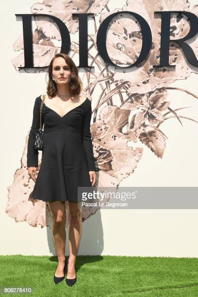 Nathalie Portman attends the Christian Dior Haute Couture Fall/Winter 20172018 show as part of Haute Couture Paris Fashion Week on July 3 2017 in...