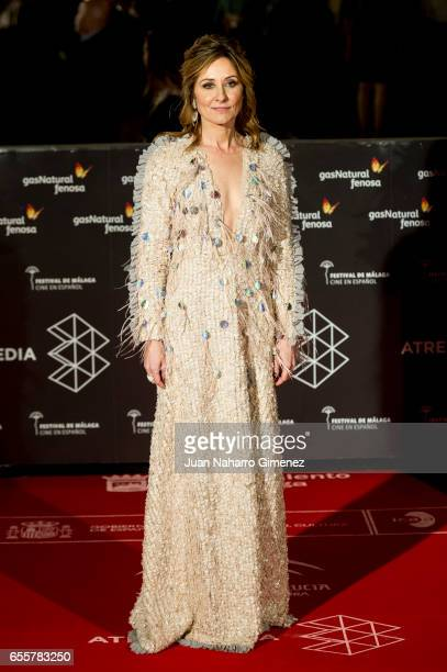 Nathalie Poza attends the 'No Se Decir Adios' premiere during the 20th Malaga Film Festival 2017 Day 4 at the Cervantes Theater on March 20 2017 in...
