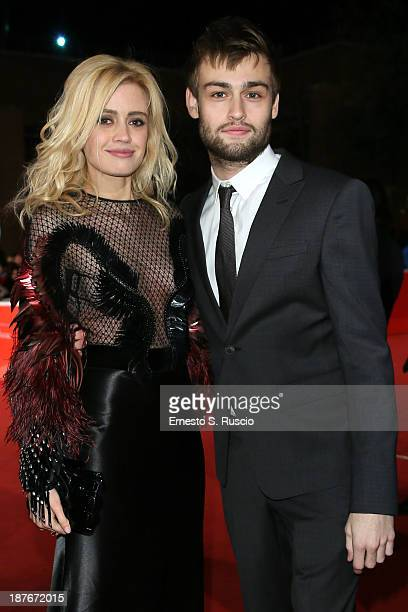 Nathalie Rapti Gomez and Douglas Booth attend 'Romeo And Juliet' Premiere during The 8th Rome Film Festival at Auditorium Parco Della Musica on...