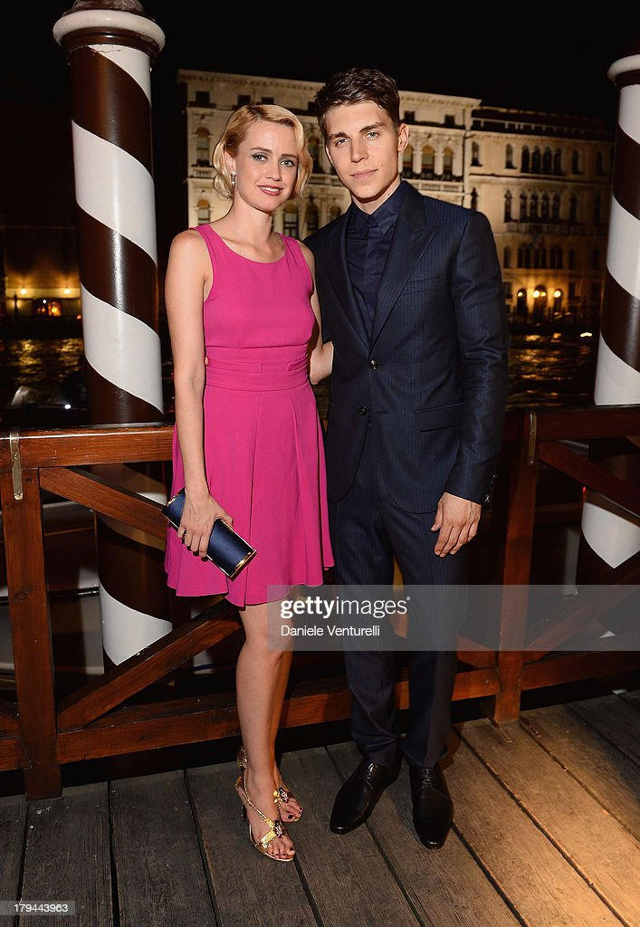 Nathalie Rapti Gomez and <a gi-track='captionPersonalityLinkClicked' href=/galleries/search?phrase=Nolan+Gerard+Funk&family=editorial&specificpeople=5626391 ng-click='$event.stopPropagation()'>Nolan Gerard Funk</a> attends 'Diva e Donna' Party during the 70th Venice International Film Festival at Centurion Palace Hotel on September 3, 2013 in Venice, Italy.