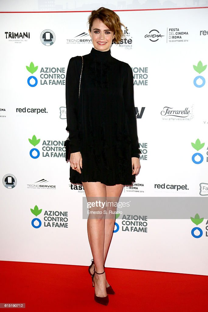 Nathalie Rapti Gomez attends 'Azione Contro La Fame' charity dinner during the 11th Rome Film Festival at on October 17, 2016 in Rome, Italy.
