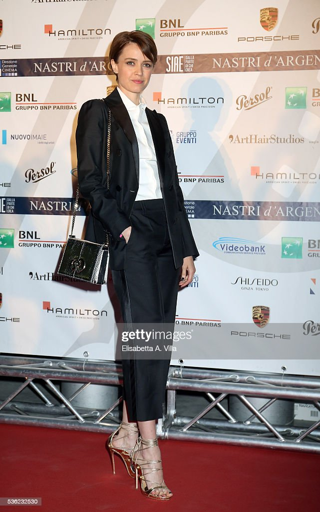Nathalie Rapti Gomez attends Nastri D'Argento 2016 Award Nominations at Maxxi on May 31, 2016 in Rome, Italy.