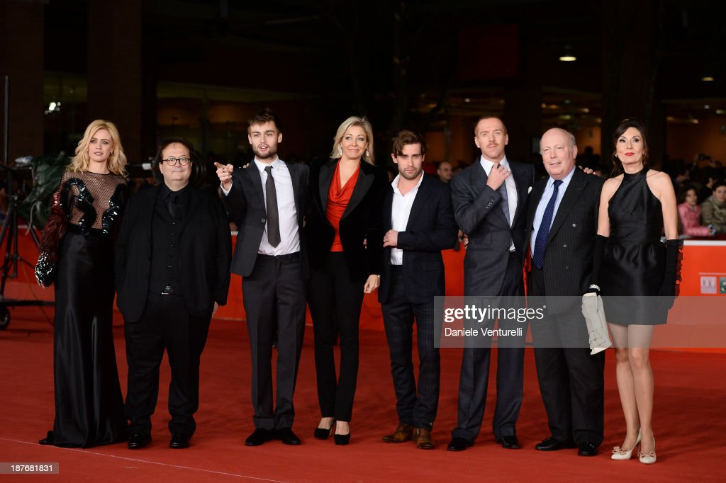 Nathalie Rapti Gomez, Carlo Carlei, <a gi-track='captionPersonalityLinkClicked' href=/galleries/search?phrase=Douglas+Booth&family=editorial&specificpeople=6324411 ng-click='$event.stopPropagation()'>Douglas Booth</a>, <a gi-track='captionPersonalityLinkClicked' href=/galleries/search?phrase=Nadja+Swarovski&family=editorial&specificpeople=653118 ng-click='$event.stopPropagation()'>Nadja Swarovski</a>, Christian Cooke, <a gi-track='captionPersonalityLinkClicked' href=/galleries/search?phrase=Damian+Lewis&family=editorial&specificpeople=206939 ng-click='$event.stopPropagation()'>Damian Lewis</a>, <a gi-track='captionPersonalityLinkClicked' href=/galleries/search?phrase=Julian+Fellowes&family=editorial&specificpeople=224703 ng-click='$event.stopPropagation()'>Julian Fellowes</a> and Simona Caparrini attend 'Romeo And Juliet' Premiere during The 8th Rome Film Festival on November 11, 2013 in Rome, Italy.