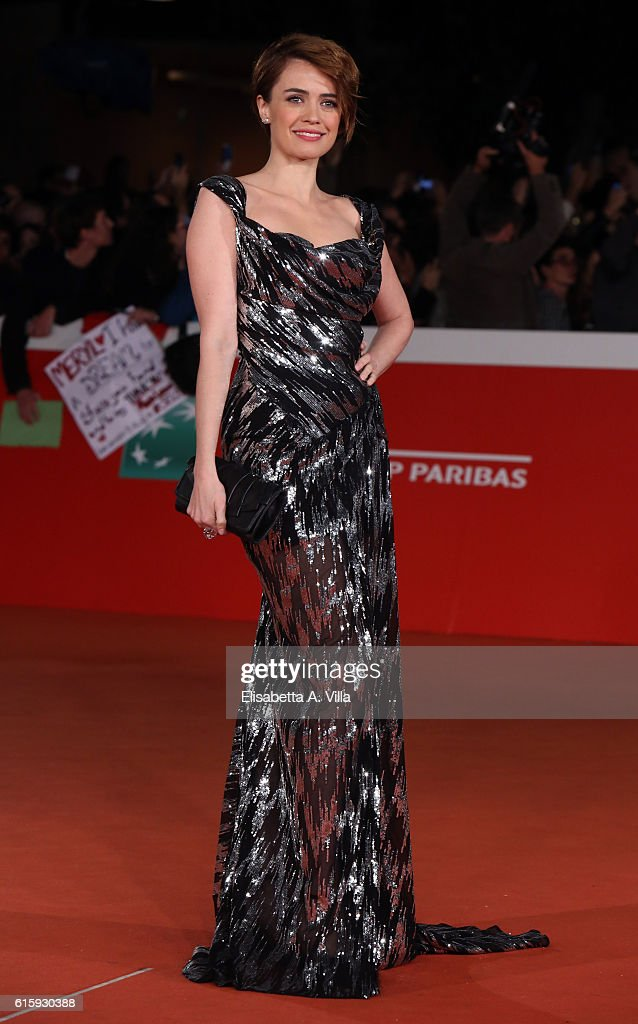 Nathalie Rapti Gomez walks a red carpet for 'Florence Foster Jenkins' during the 11th Rome Film Festival at Auditorium Parco Della Musica on October 20, 2016 in Rome, Italy.