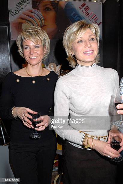 Nathalie Rihouet and Evelyne Dheliat during Patrick Drevet's Wine of The Month 'Le Domaine Berenas Launch' Cocktail Party at Urban Cofee Palais des...