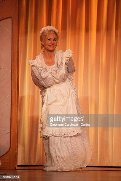 Nathalie Rihouet as Emilie in the play 'Un Fil à la Patte' by Feydeau adapted by Olivier Minne and directed by Francis Perrin