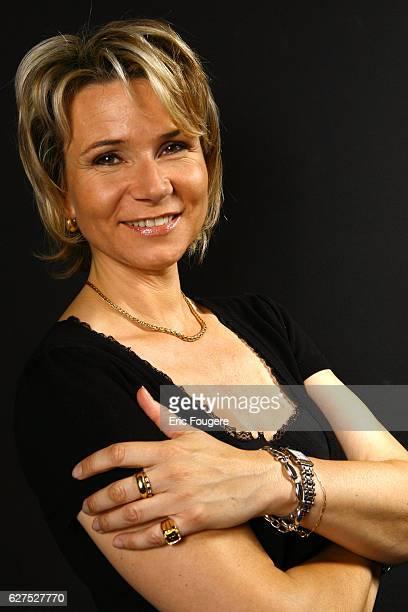 Nathalie Rihouet at the 1st 'Salon de la Tele' held in Paris