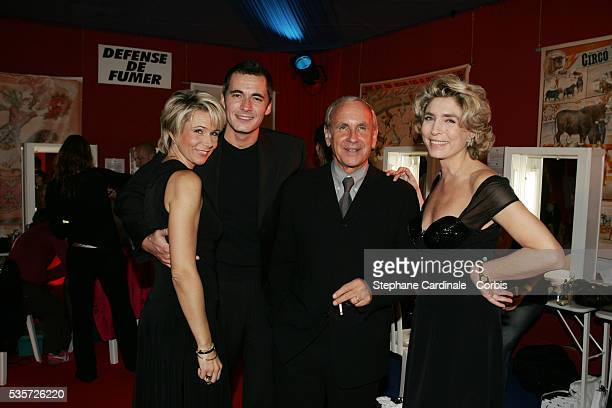 Nathalie Rihouet Olivier Mine Patrice Laffont and MarieAnge Nardi backstage during the 40th anniversary of French television channel France 2