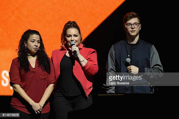 Nathalie Rodriguez Angie Martinez and Kevin Garrett speak onstage during TIDAL X 1015 on October 15 2016 in New York City